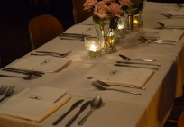 table setting supper club
