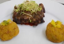 plantain and oxtail